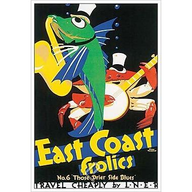 East Coast Frolics by Newbould, Canvas, 24