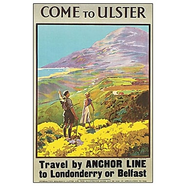 Come to Ulster, toile tendue, 24 x 36 po