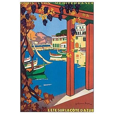 L'été sur la Côte d'Azur de Roger, toile, 24 x 36 po