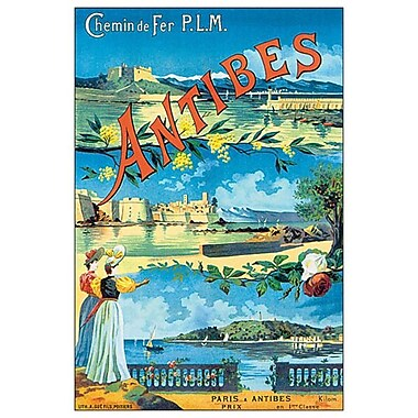 Antibes Chemin de fer P.L.M., Stretched Canvas, 24
