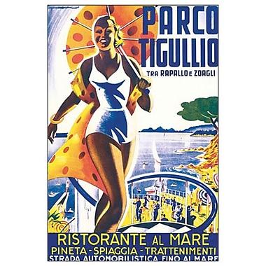 Parco Tigullio Tra Rapallo, toile tendue, 24 x 36 po