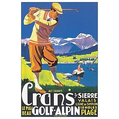 Crans le plus beau golf Alpin de JEM, toile, 24 x 36 po