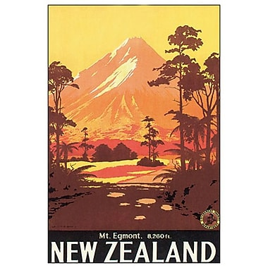 Mt. Egmont, New Zealand de Mitchell, toile, 24 x 36 po