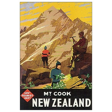 Mt. Cook, New Zealand de Mitchell, toile, 24 x 36 po