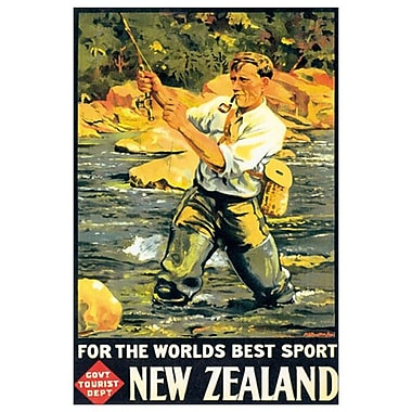 Best Sport New Zealand, toile tendue, 24 x 36 po
