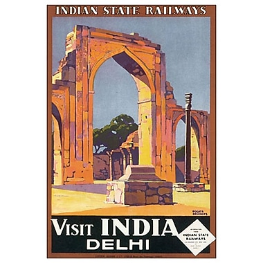 Visit India Delhi de Broders, toile, 24 x 36 po