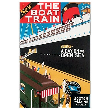 Boat Train Sunday de W. Holmes, toile, 24 x 36 po