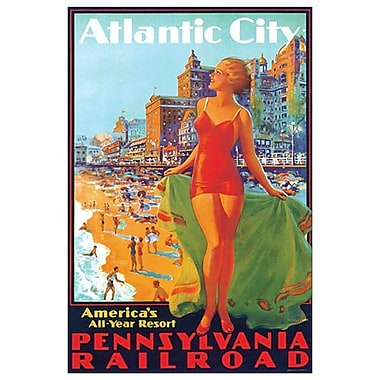 Atlantic City de Eggleston, toile, 24 x 36 po