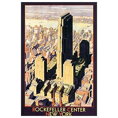 Rockefeller Center de Ragan, toile, 24 x 36 po