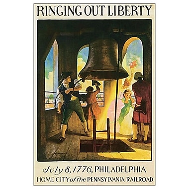 Ringing Out Liberty de Wyeth, toile, 24 x 36 po
