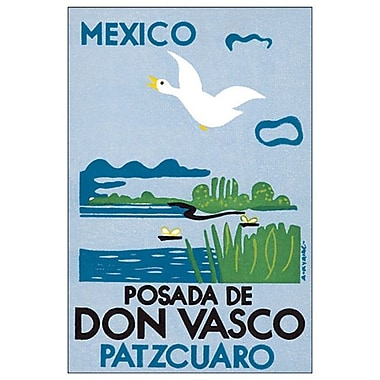 Mexico Posada de Don Vasco, toile tendue, 24 x 36 po