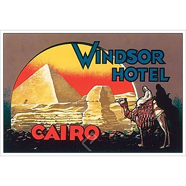 Windsor Hotel Cairo, toile tendue, 24 x 36 po