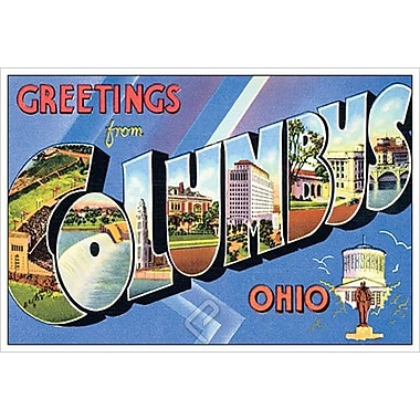 Greetings from Columbus Ohio, Stretched Canvas, 24