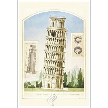 Torre di Pisa de Patrignani, toile, 24 x 36 po
