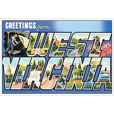 Greetings from West Virginia, Stretched Canvas, 24