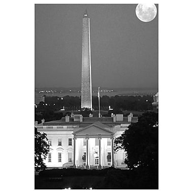Washington D.C.(Black & White), Stretched Canvas, 24