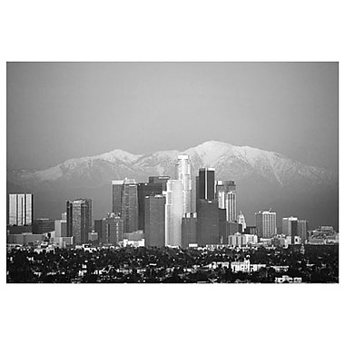 Los Angeles (black & white), Stretched Canvas, 24