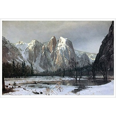 Cathedral Rocks de Bierstadt, toile, 24 x 36 po