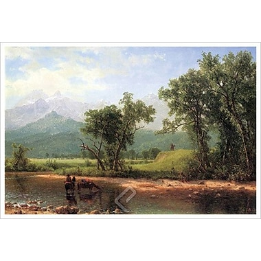 Wind River Mountains de Bierstadt, toile, 24 x 36 po