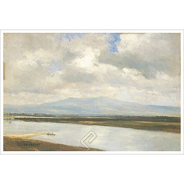 Taunus Mountains River by Bracht, Canvas, 24