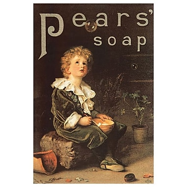 Pear's Soap 1886, toile tendue, 24 x 36 po