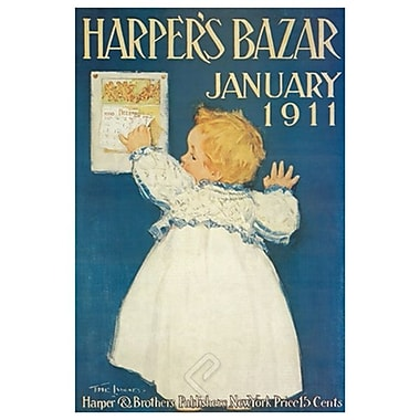 Harper's Bazar January 1911, toile tendue, 24 x 36 po