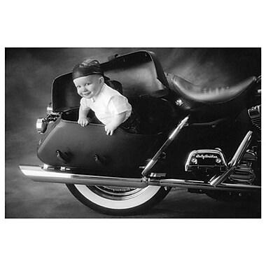 Bébé motard de Johnson, toile, 24 x 36 po