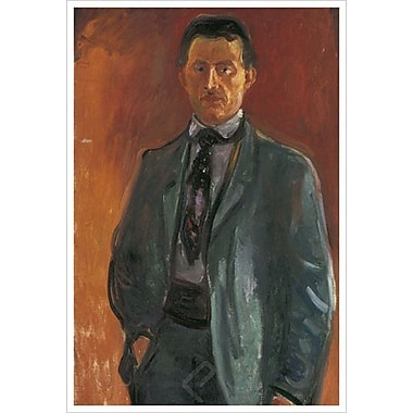 Self-Portrait by Munch, Canvas, 24