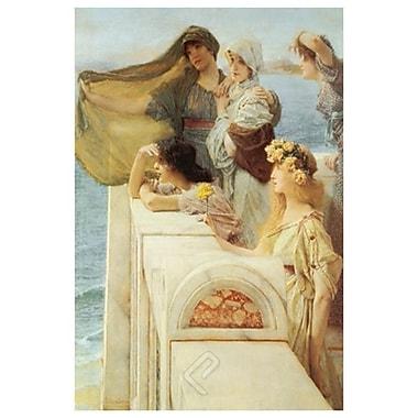 Au berceau d'Aphrodite de Alma-Tadema, toile, 24 x 36 po