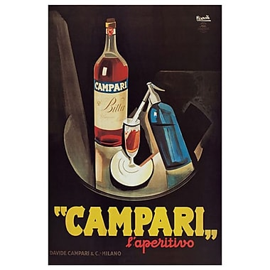 Campari l'Aperitivo, Stretched Canvas, 24