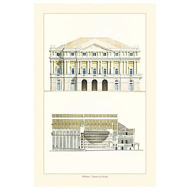 Teatro La Scala by Patrignani, Canvas, 24