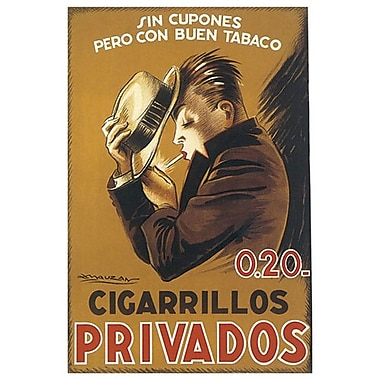 Cigarillos Privados by Mauzan, Canvas, 24