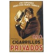 Cigarillos Privados de Mauzan, toile de 24 x 36 po