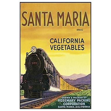 Santa Maria Vegetables, Stretched Canvas, 24
