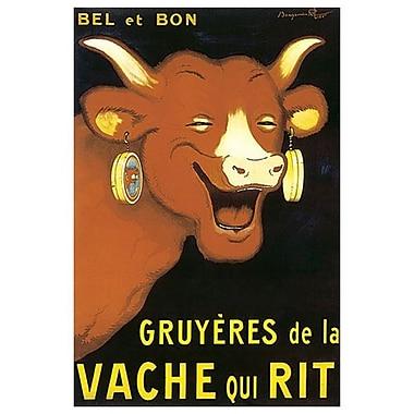 Fromages La Vache qui rit de Rabier, toile de 24 x 36 po