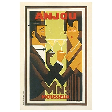 Anjou Vins Mousseux, Stretched Canvas, 24