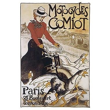 Motocycles Comiot de Steinlen, toile, 24 x 36 po