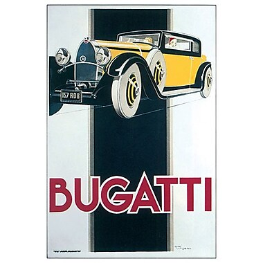 Bugatti by Vincent, Canvas, 24