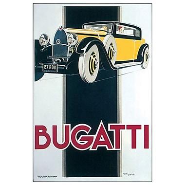 Voitures Bugatti de Vincent, toile, 24 x 36 po