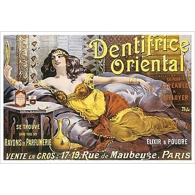 Dentifrice oriental, toile tendue, 24 x 36 po