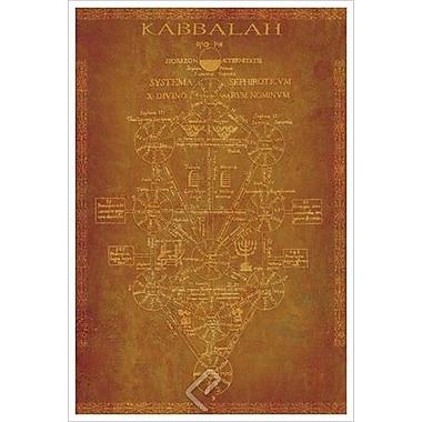 Parchemin Kabbalah, toile tendue, 24 x 36 po