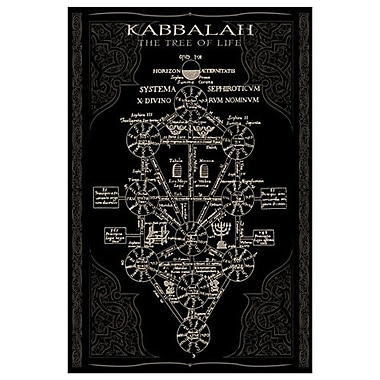 Kabbalah in Black II, Stretched Canvas, 24