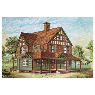 Victorian House 18, Stretched Canvas, 24
