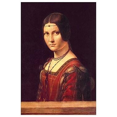 La belle ferronnière de da Vinci, toile, 24 x 36 po