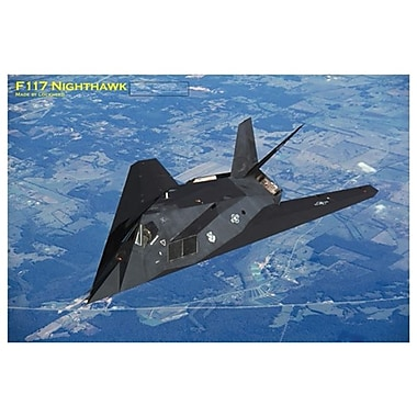 Avion F117 Nighthawk, toile tendue, 24 x 36 po