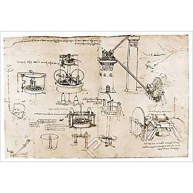 Aspiration et Archimède de da Vinci, toile, 24 x 36 po