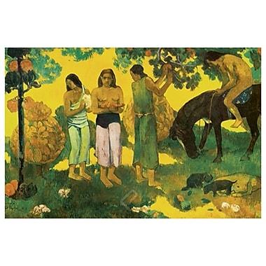 Rupe Rupe (Tahiti) de Gauguin, toile, 24 x 36 po