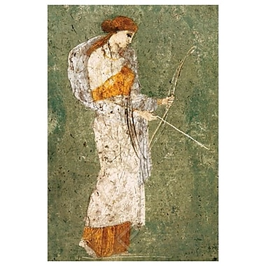 Pompeian Art - Diana, Stretched Canvas, 24