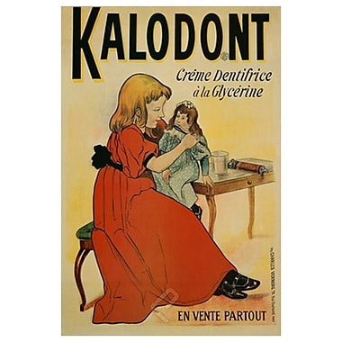 Kalodont - Creme Dentifrice, toile tendue, 24 x 36 po