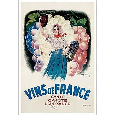 Vins de France de Galland, toile, 24 x 36 po